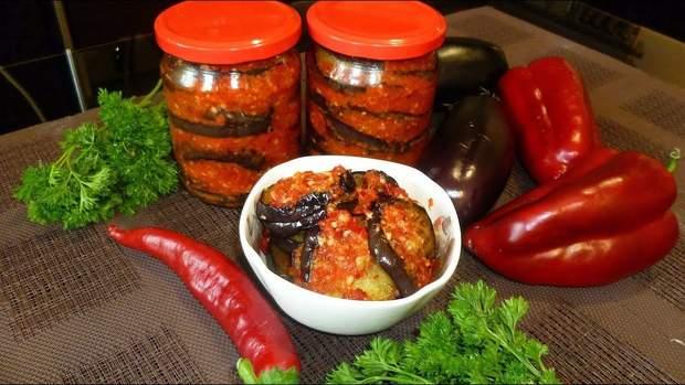 Рецепти салатів на зиму з баклажанів