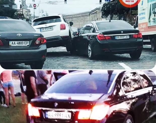 ДТП, Київ, дніпровська набережна, Куць, BMW