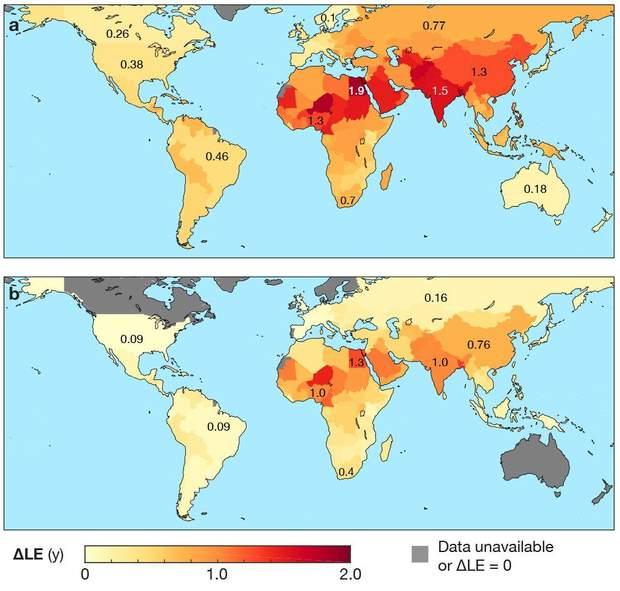 Карта забрудненості повітря