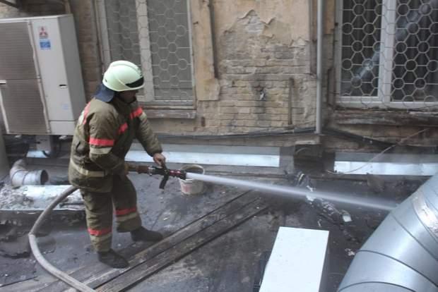 Пожежа Київ Хрещатик ресторан