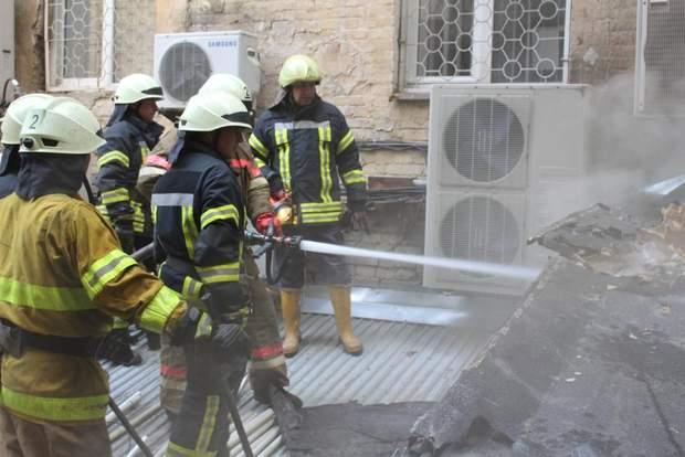 Пожежа Київ ресторан Хрещатик