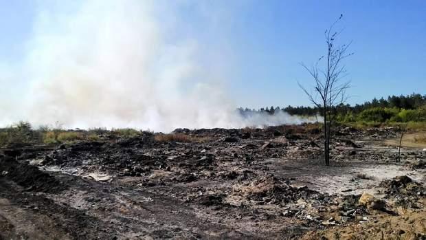 Пожежа сміттєзвалище Балаклія Харківщина