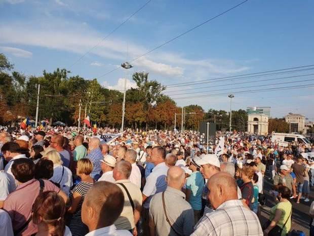 Молдова, протести, мітинг