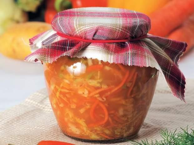 Салати на зиму з капусти: рецепти приготування салаті з капусти на зиму
