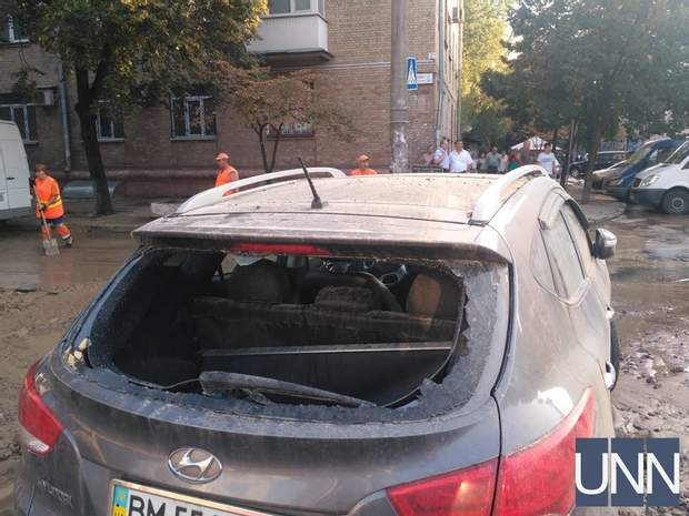 авто Київ прорив труби