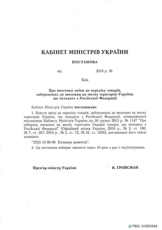 Уряд Україна Росія імпорт товари торгівля