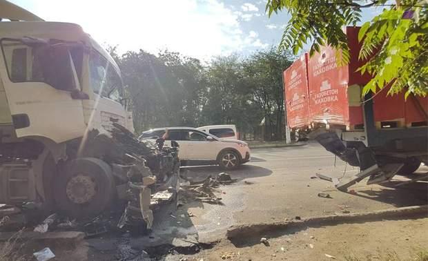 вантажівки, вибух, газ, Одеса, ДТП