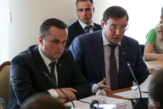 Назар Холодницький (зліва) і Юрій Луценко (справа)