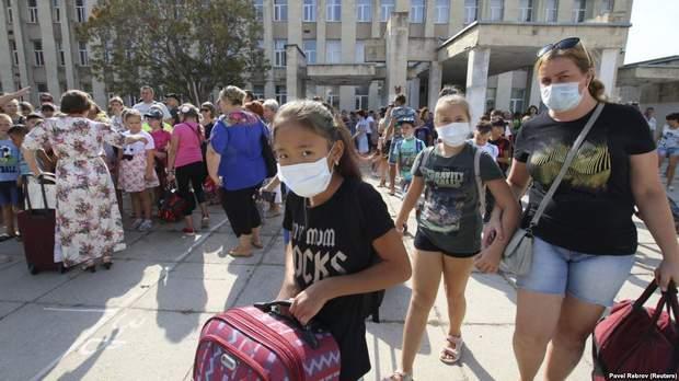 Армянськ хімвикиди евакуація діти