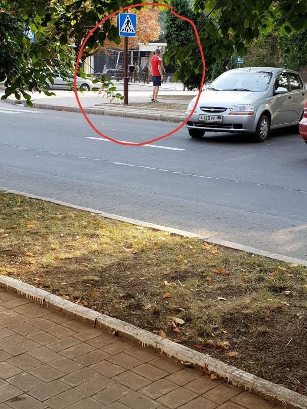 Місце вбивства Захарченка