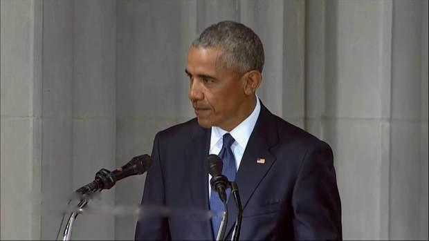 Барак Обама на церемонії поховання Маккейна