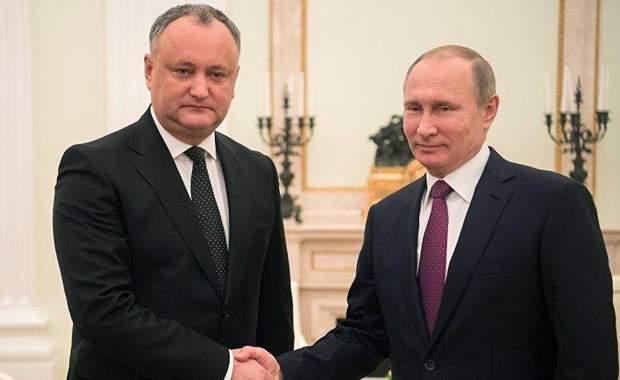 Додон Путін Молдова