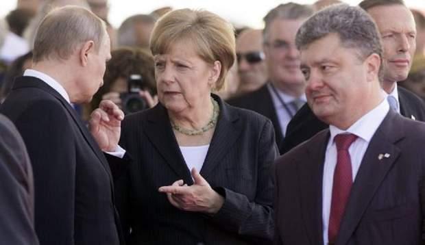 Путін Меркель Порошенко війна на Донбасі