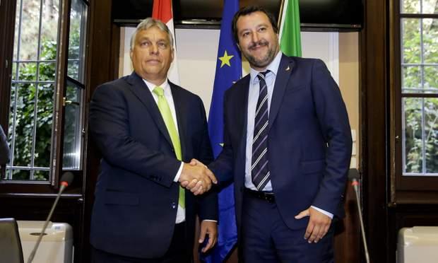 Маттео Сальвини и Виктор Орбан