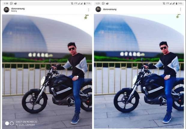 Порівняння двох знімків, які опублікувала Xiaomi