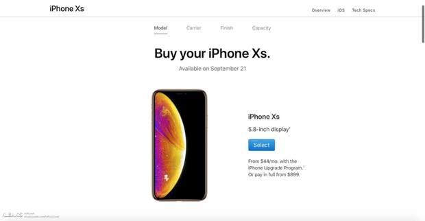 iPhone XS, витік, смартфон, ціна, реліз, старт продажів, США, техно, телефон