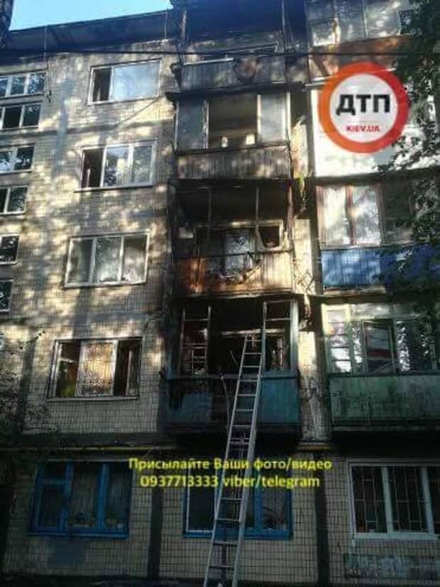 Пожежа в багатоповерхівці в Києві