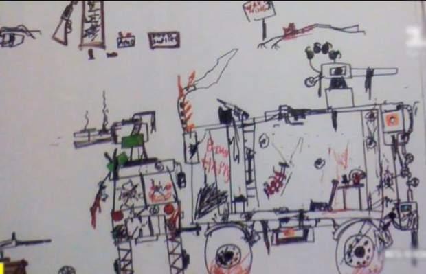 Київ школа учень напад вчителька малюнки