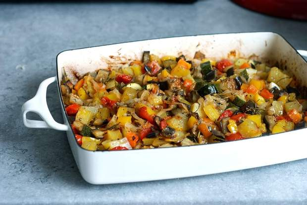Запікайте овочі