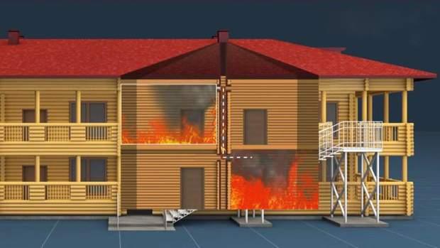 Пожежа швидко поширилася через відсутність протипожежної обробки деревини