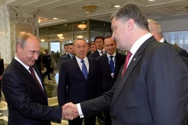 Путін і Петро Порошенко