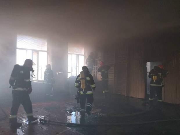 Пожежа Хмельницький школа фото відео ДСНС