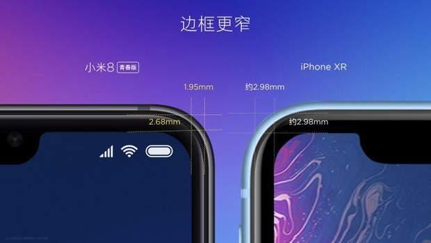 Xiaomi  Mi 8 Lite порівняли з iPhone Xr