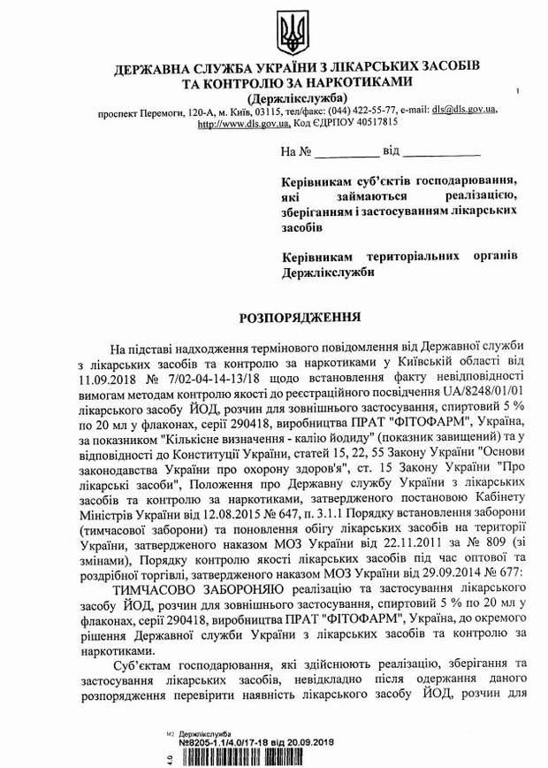 В Україні заборонили популярний антисептик та ліки від застуди