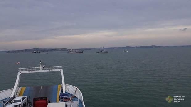 Українські військові кораблі Кримський міст