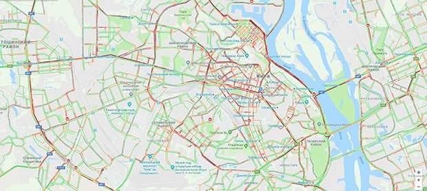 Київ затори 25 вересня карта