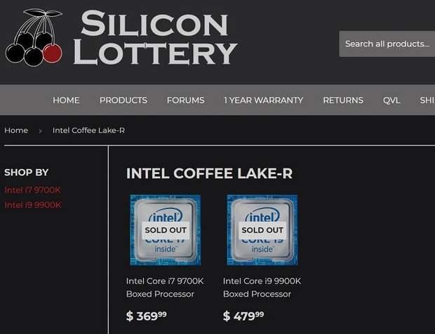 Ціни на процесори Intel Coffee Lake Refresh