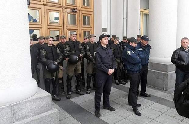 МЗС силовики охорона мітинг