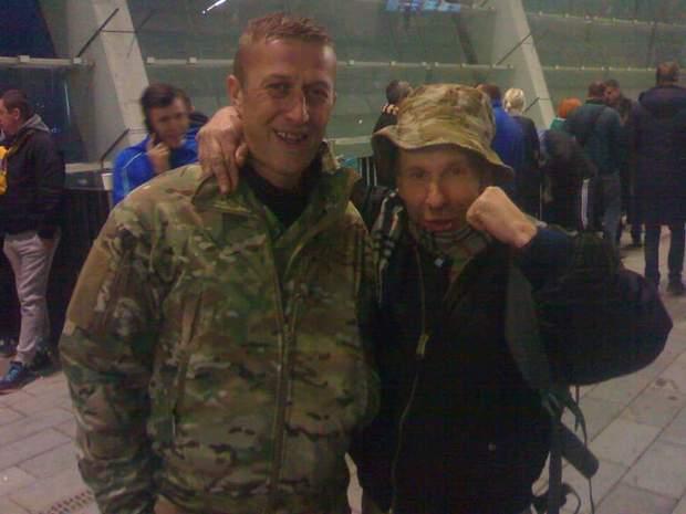 В'ячеслав Зінькевич і хорватський доброволець Денис Шелер