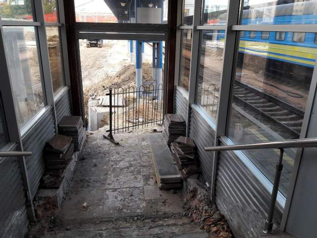Потяги відправлятимуться з 14 колії, яку нині будують