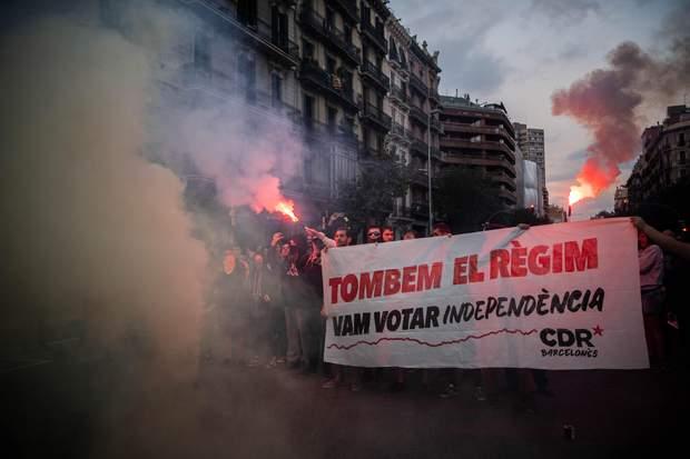 Барселона сутички мітинги