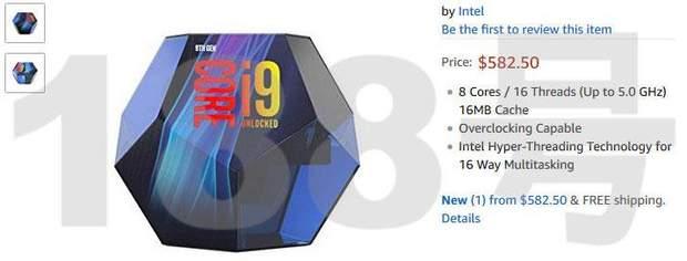 Ціна Intel Core i9-9900K на Amazon