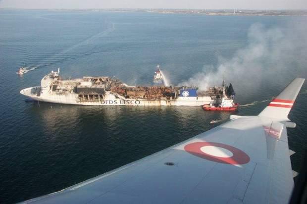 Наслідки вибуху на Regina Seaway