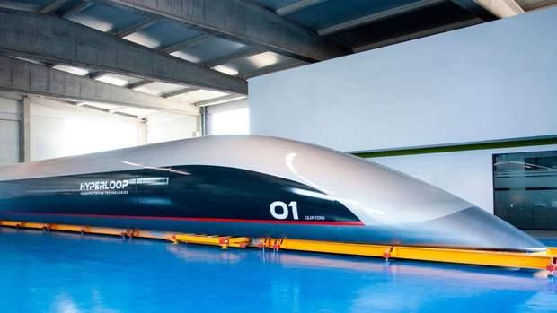 Hyperloop пасажирська капсула реальні фото