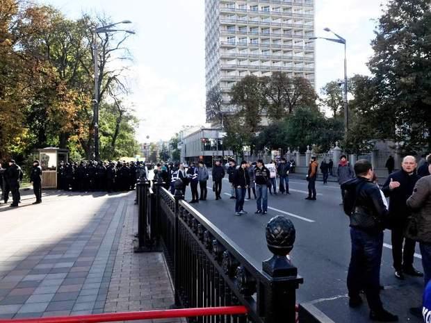 Київ Верховна Рада перекрито прохід
