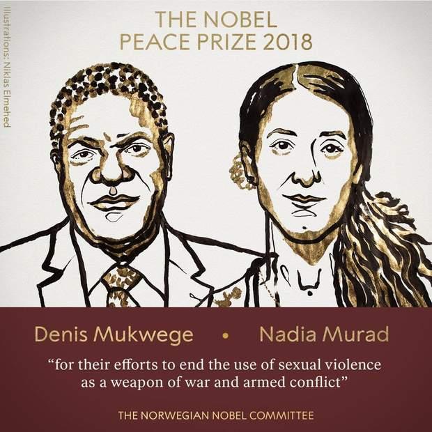 Лауреати Нобелівської премії миру у 2018 році