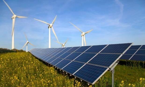 відновлювана енергетика сонячні батареї вітряки