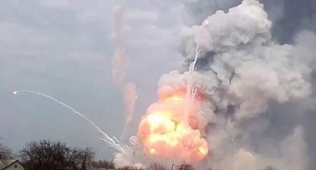 Взрывы вблизи Ични