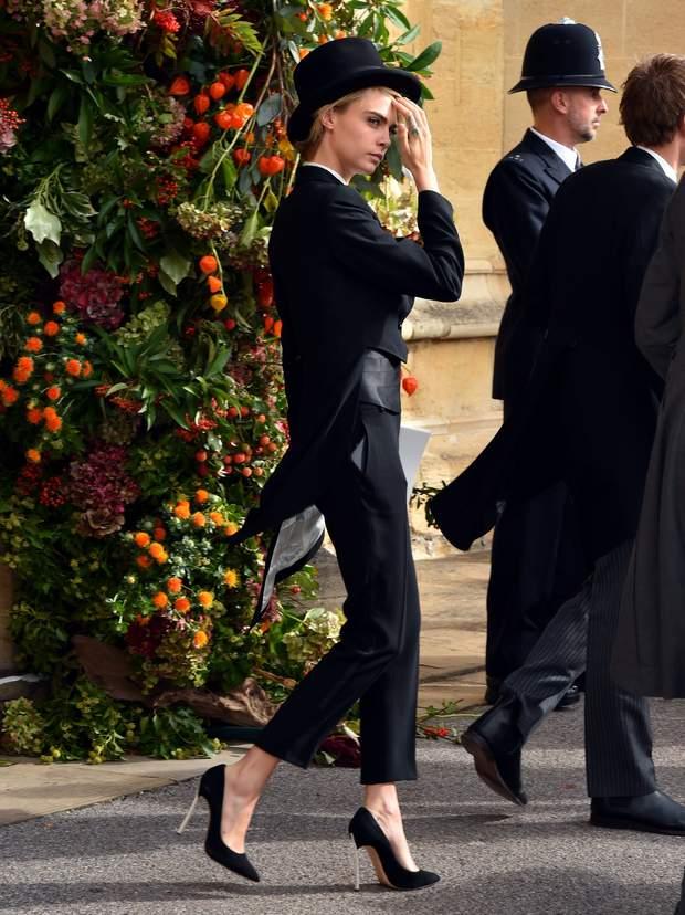 Кара Делевінь на весіллі принцеси Євгенії та Джека Бруксбенка