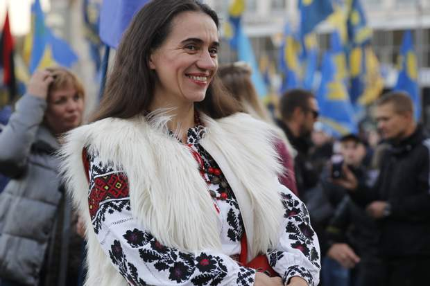 Киев, День защитника марш, патриоты, националисты