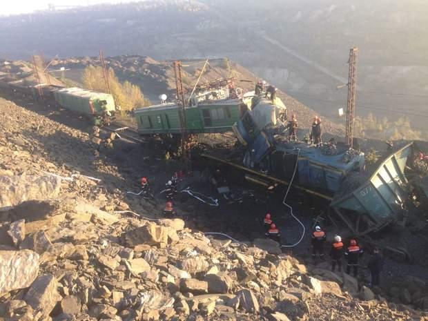 Наслідки зіткнення локомотивів у Кривому Розі