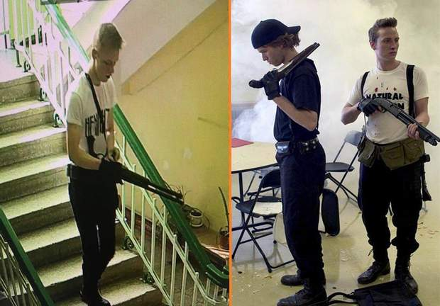 Фотопорівняння Рослякова і нападників на школу Колумбайн