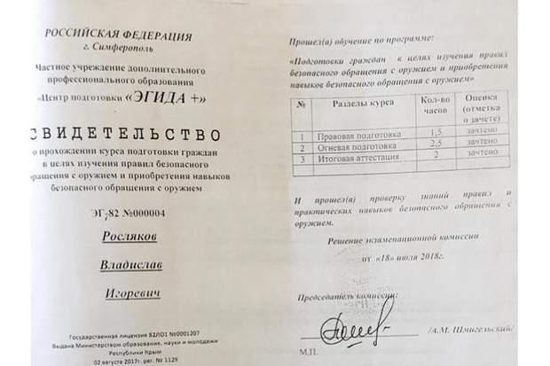 Росляков Керч коледж стрілянина стрільба