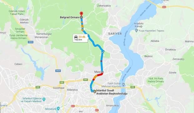 Стамбул карта маршрут