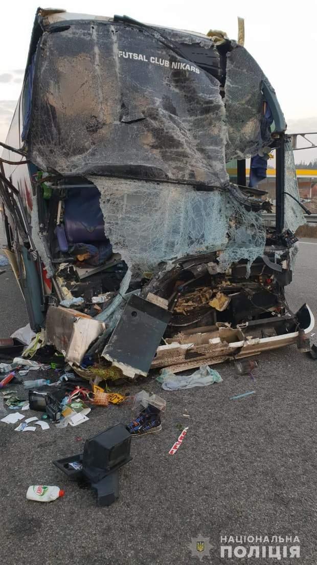 Аварії на Київщині з автобусом акторів
