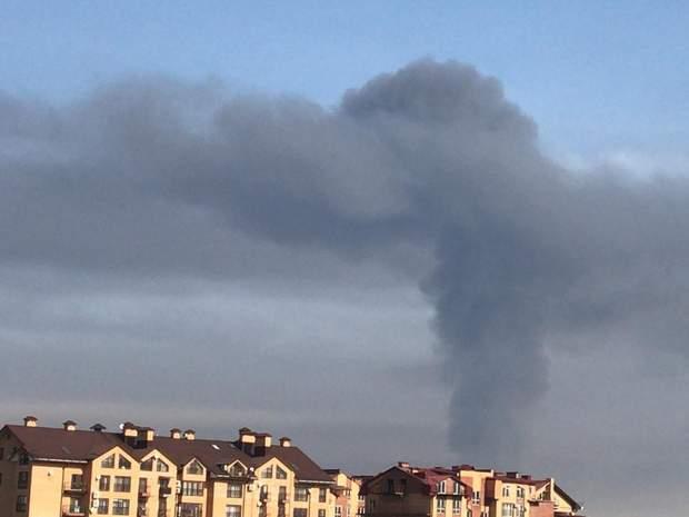 димовий гриб Владикавказ пожежа